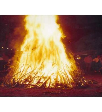 Balade et fête devant un magnifique bûché feux de la Saint-Jean