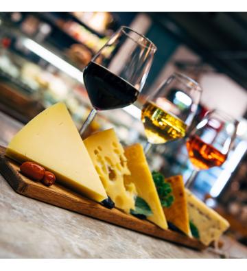 Dégustation de vin et de fromages de la région !